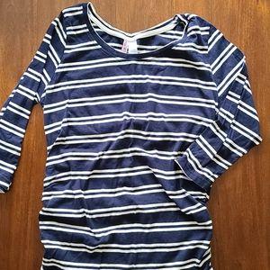 3/4 Sleeve striped maternity tee medium fit